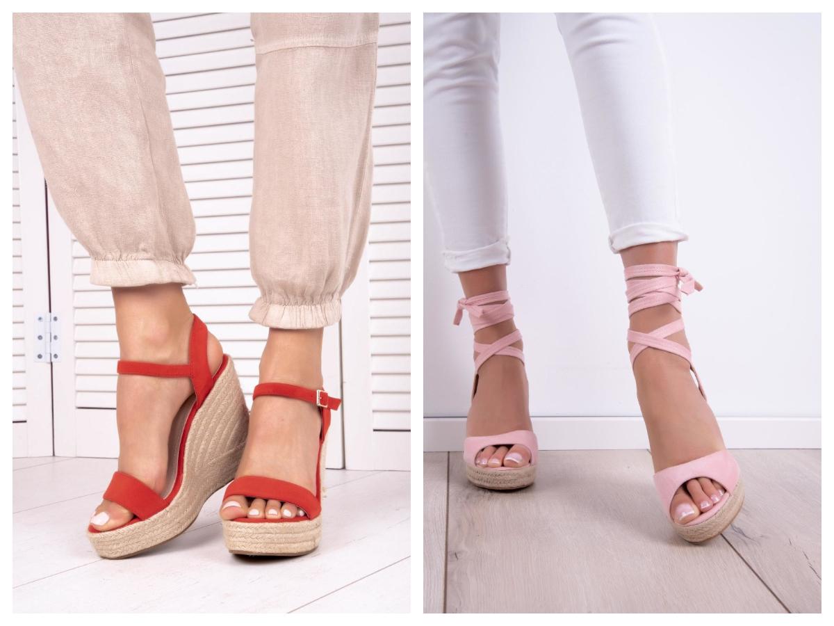 buty na platformie z paskami