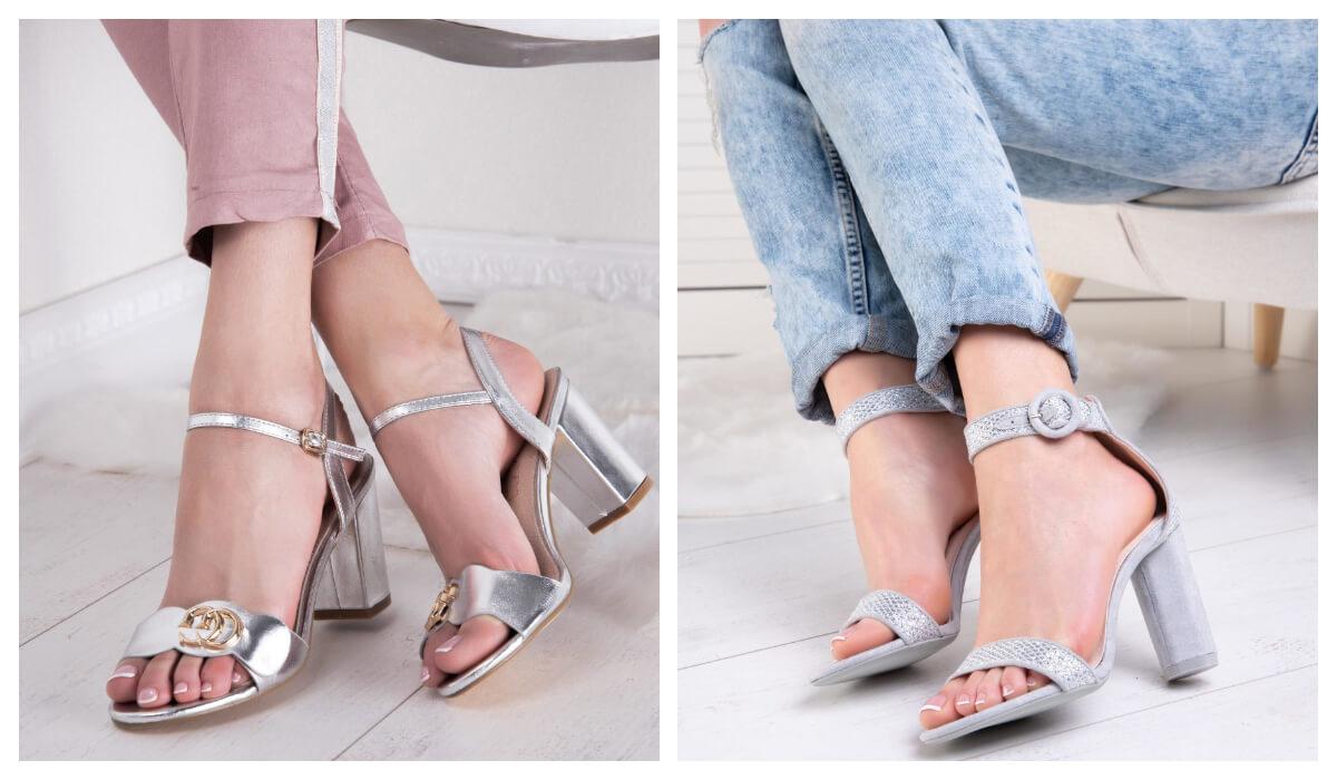 Modne sandały damskie na słupku